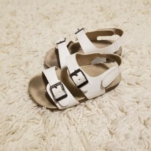 Old Navy white sandals 18-24mos